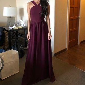 Air of romance burgundy bridesmaid dress
